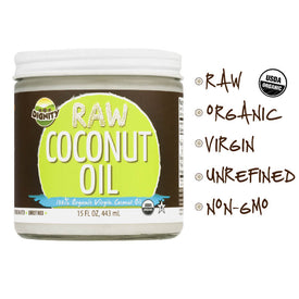 Raw Organic Coconut Oil by Dignity (3-pack)