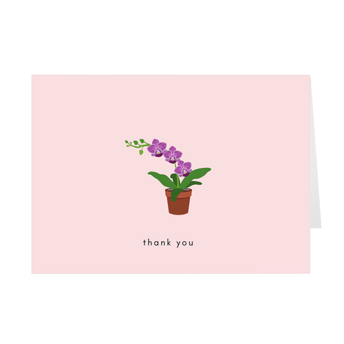Orchid Thank You Card - Quick Ship