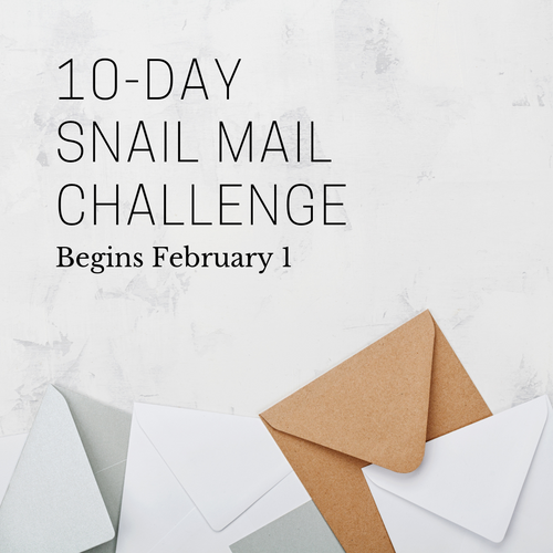 10-Day Snail Mail Challenge