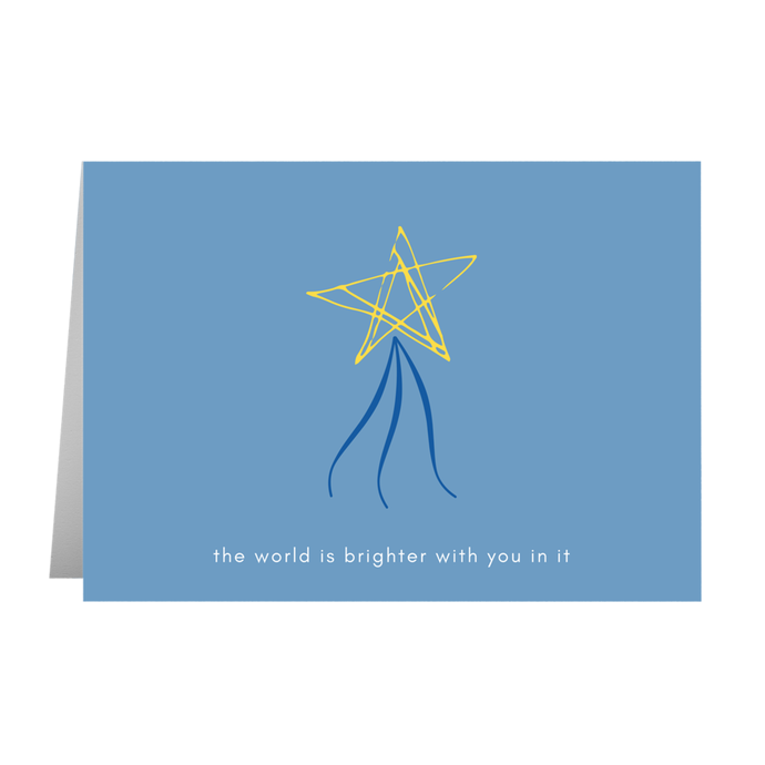 The World Is Brighter With You Card