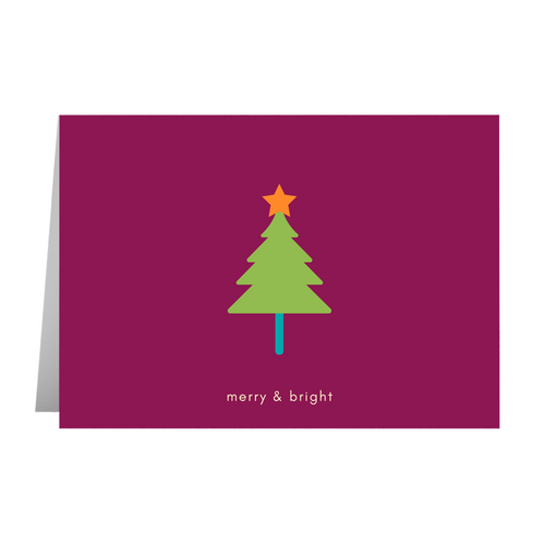 Merry & Bright Tree Card - Quick Ship