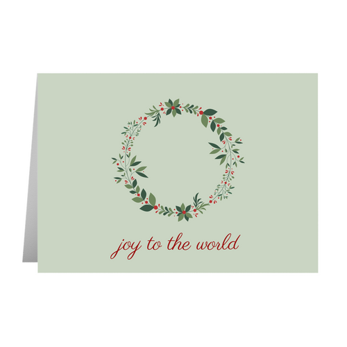 Joy to the World Card - Quick Ship