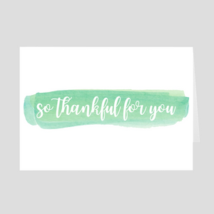 Thankful for You Card