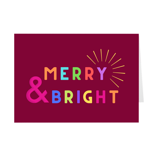 Merry & Bright Card - Quick Ship