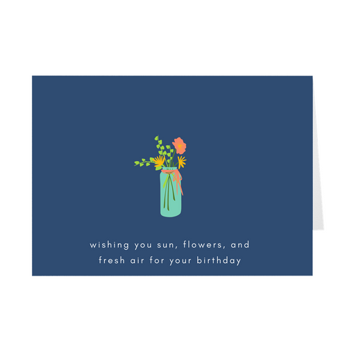 Flowers and Fresh Air Birthday Card