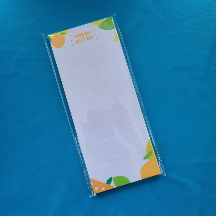 Citrus Grocery Notepad