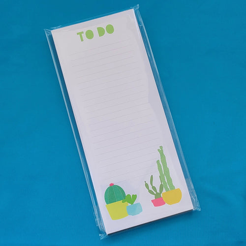 Cactus To Do Notepad