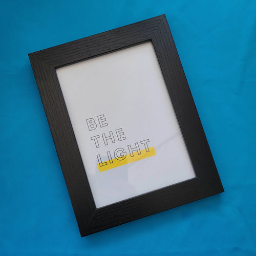 Be the Light Framed Print