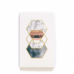 Gold Hexes Layflat Journal
