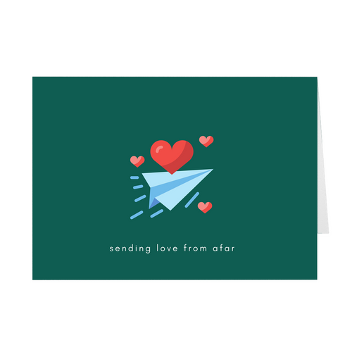 Sending Love from Afar Card - Quick Ship