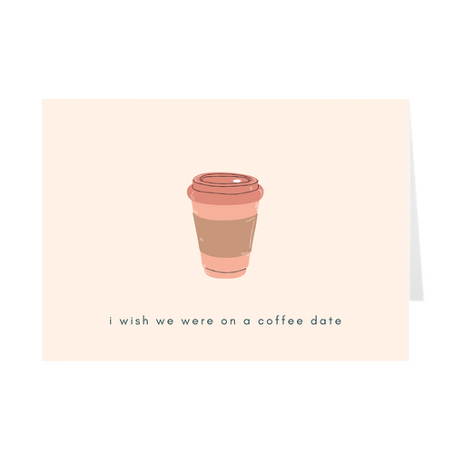Coffee Date Card - Quick Ship