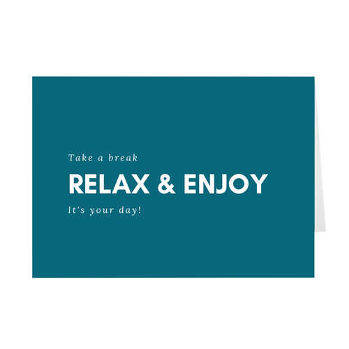 Relax & Enjoy Card