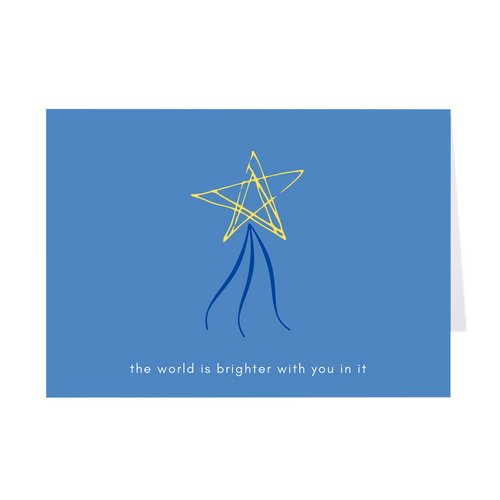 The World Is Brighter With You Card - Quick Ship