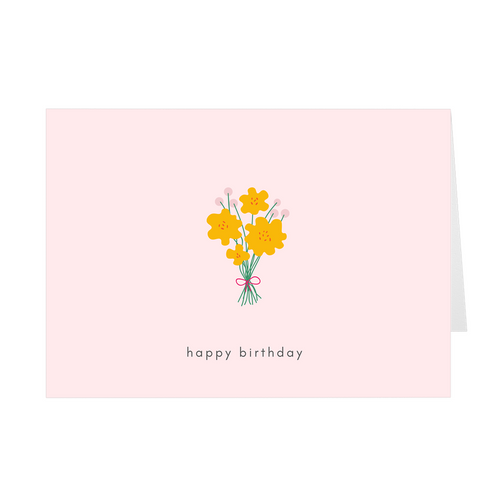 Happy Birthday Bouquet Card