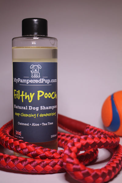 Filthy Pooch Natural Dog Shampoo, Dog Shampoo - MyPamperedPup.com