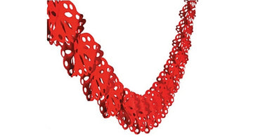 Tissue Heart Shaped Garland  - 9ft