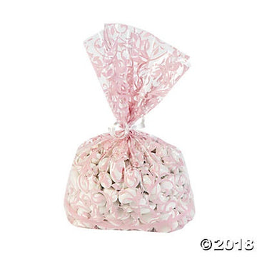 Light Pink Swirl Cellophane - 12 Bags