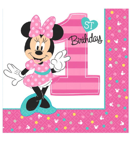 Disney Minnie's Fun To Be One Luncheon Napkins