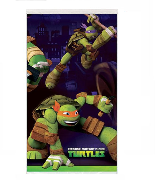 "Teenage Mutant Ninja Turtles Plastic Tablecloth, 84"" x 54"" - 1 tablecover"