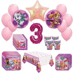 Girl Paw Patrol Skye Everest 3rd Birthday Party Kit Pack Bundle    52 Piece Set - Shipped Fedex Express