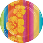 "Creative Converting 8 Count Sturdy Style Round Paper Plates, 8.75"", Sunset Stripes"