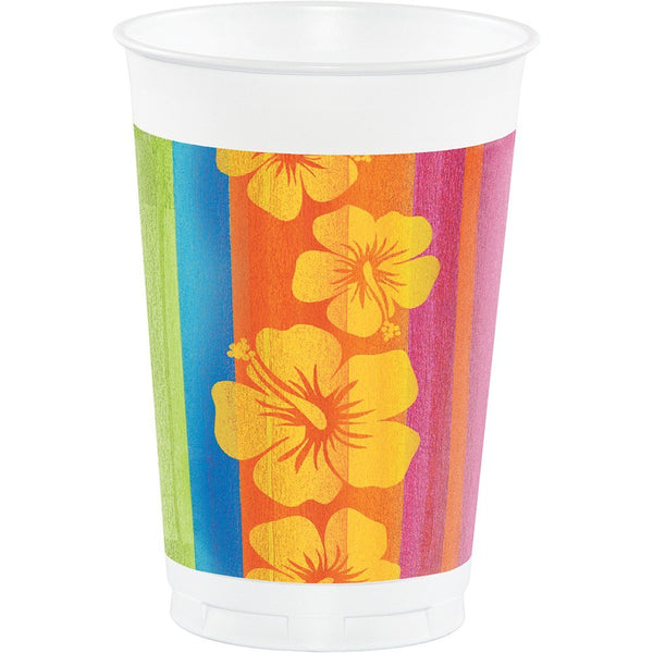 Creative Converting Printed Plastic Cups, 16 oz, Sunset Stripes (8-Count)