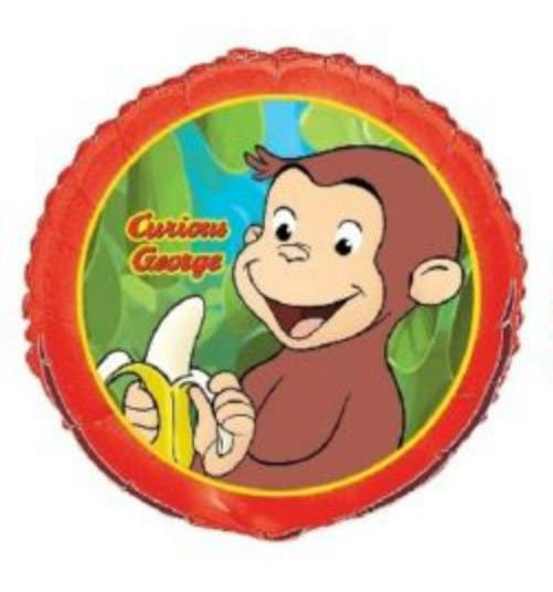 "CURIOUS GEORGE the Monkey ~ (1) 18"" Foil Mylar Balloons ~ Birthday Party Supply"