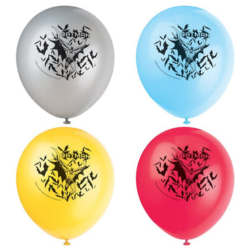 "Batman - 12"" Latex Balloons, 8ct in assorted colors"