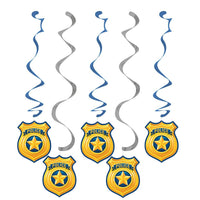 Police Badge Hanging Swirls (5 ct)