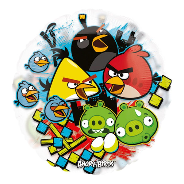 "26"" Angry Birds Clear Balloon - See thru"