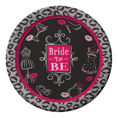 "Bridal Bash Lunch Plate - 8 3/4"" - Bride To Be - Paper - 8 Count"