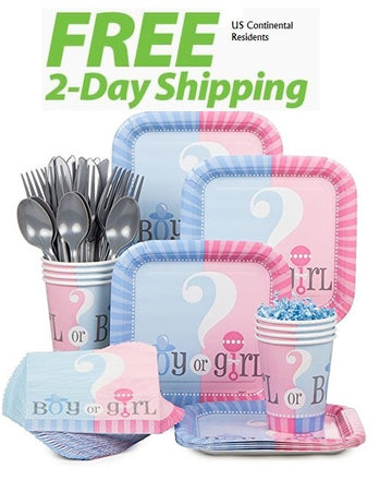 Baby Gender Reveal Party Kit for 18 Guests