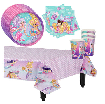 Barbie Mermaid Birthday Party Supplies for 16 guests