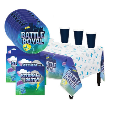 Battle Royal Video Game  Deluxe Birthday Party Supplies for 16