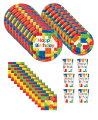 Brick Block Birthday Party for 16 Guests