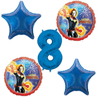 Captain Marvel 8th Birthday Balloons