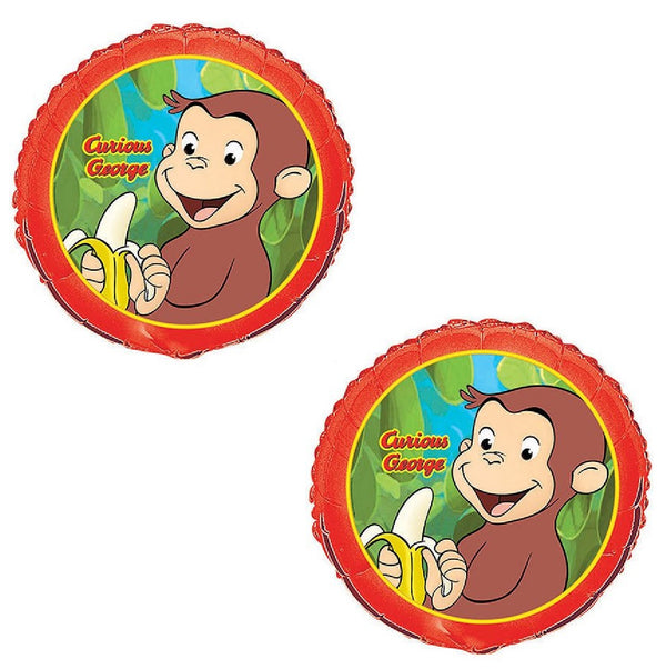 "Curious George (2) 18"" Foil Balloons"