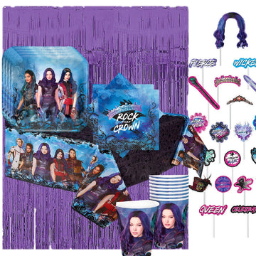Descendants 3 Birthday Party Pack for 16 Guests with Scene Setter
