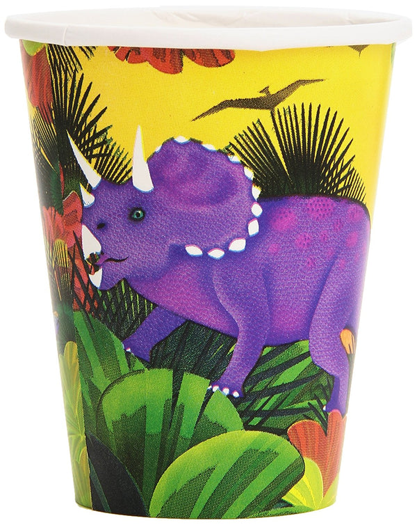 Dinosaur Prehistoric Party 9oz Paper Cups (8ct)