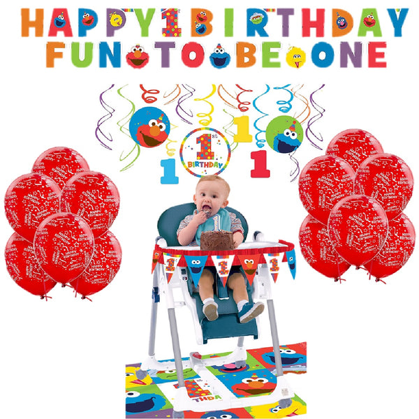 Sesame Street Elmo First Birthday Party Decorating Kit