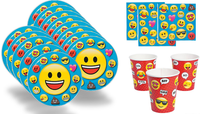 Emoji Birthday Party Value Pack - Shipped Fedex Express