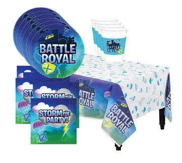 Battle Royal Video Game Birthday Party Supplies for 16