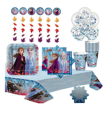 Frozen 2 Birthday Party Supply Kit with Candle