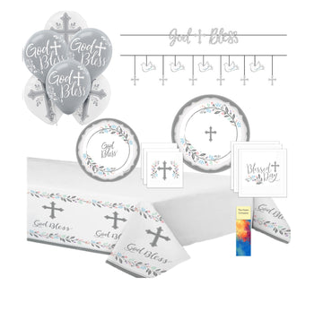 Holy Day Baptism Communion Party Supplies with Banner for 18 Guests
