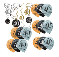 Fortieth 40 th Birthday Party  Decorating Kit