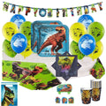 Jurassic World Dino Birthday Party Supplies Kit for 16 Guests