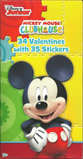 Disney Junior Mickey Mouse Valentines Clubhouse 34 Cards with Stickers