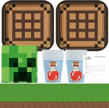Minecraft Birthday Party Supplies for 16