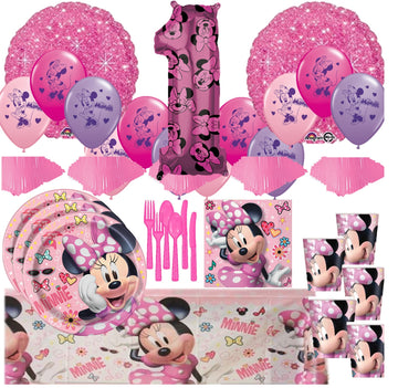 Minnie Mouse 1st Birthday Mega Kit for 16 Guests
