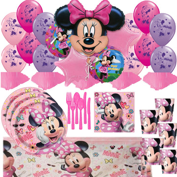 Minnie Mouse  Birthday Mega Party for 16 Guests